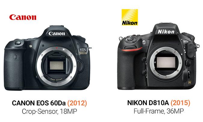 Canon 60Da vs. Nikon D810A