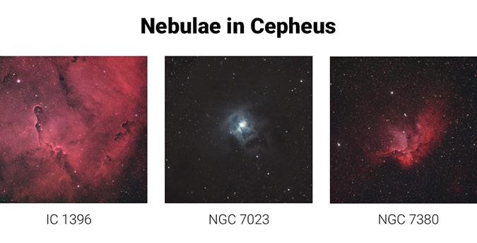 Nebulae in Cepheus