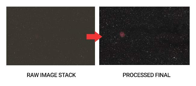 astrophotography image processing