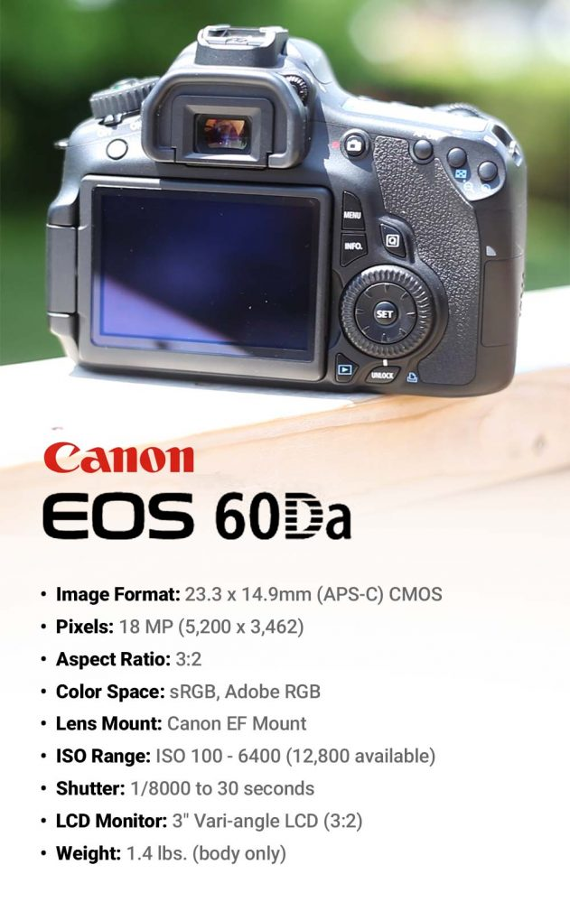 Canon EOS 60Da specs