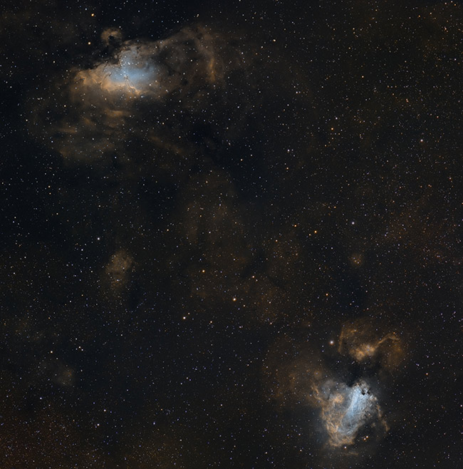 Eagle Nebula and Omega Nebula