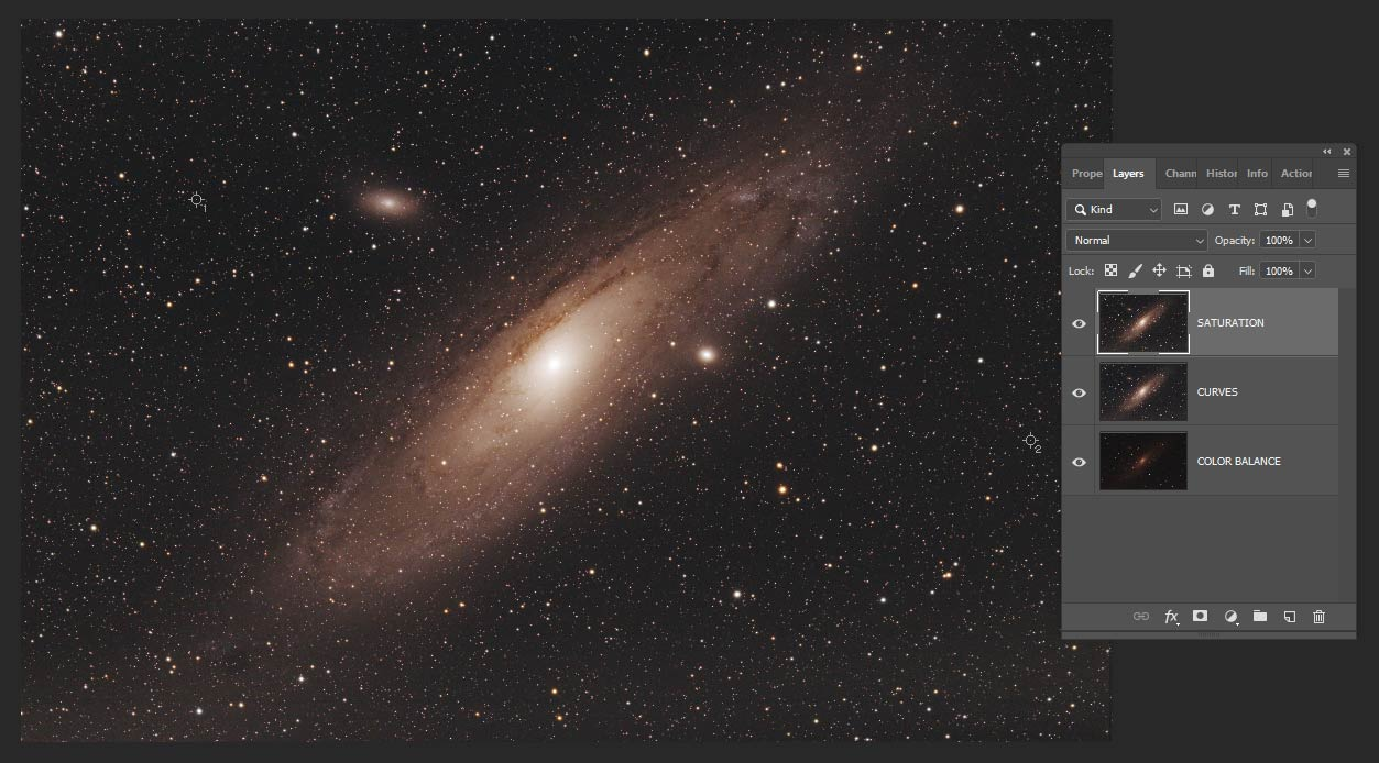 andromeda galaxy image processing tutorial in adobe photoshop  l esprit des planets adobe.php #5