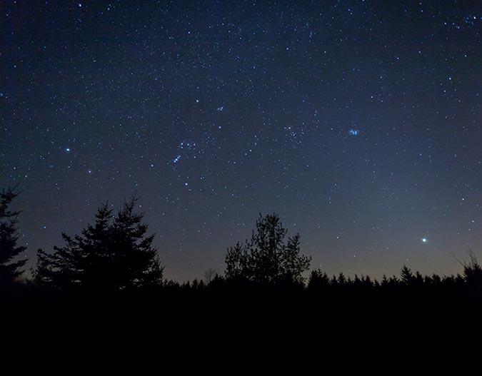 Single exposure of the night sky