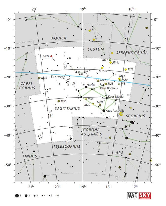 Sagittarius star map
