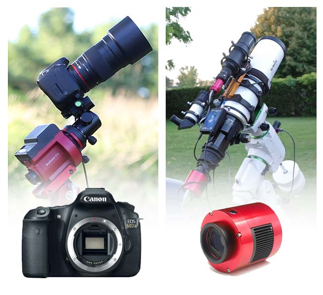 two types of astrophotography cameras