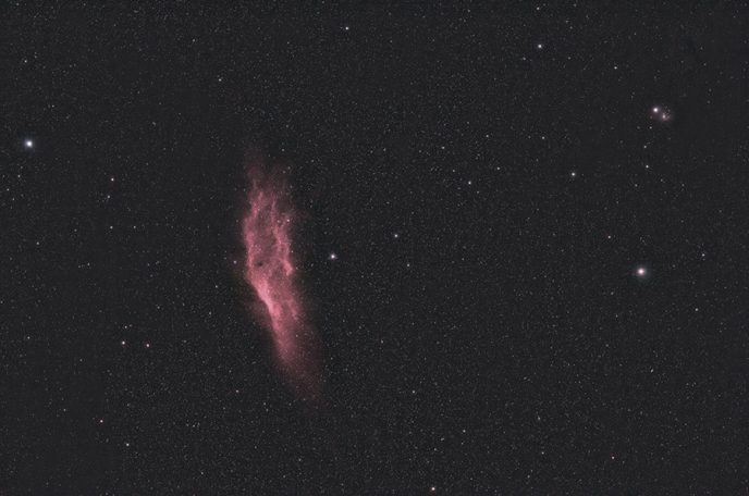 California Nebula at 135mm