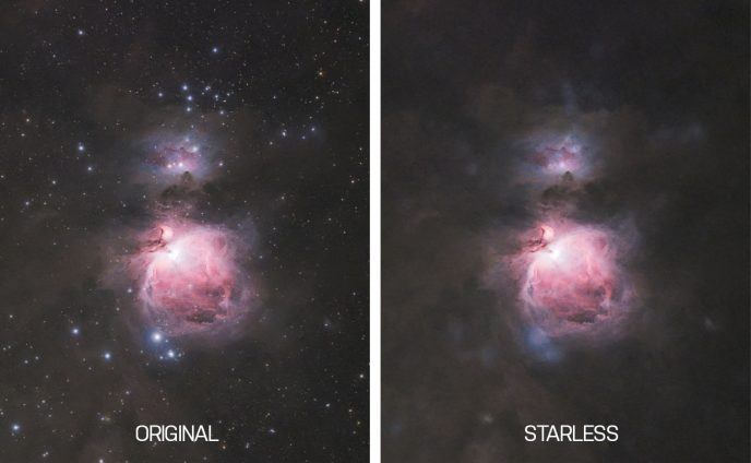 Starless astrophotography image