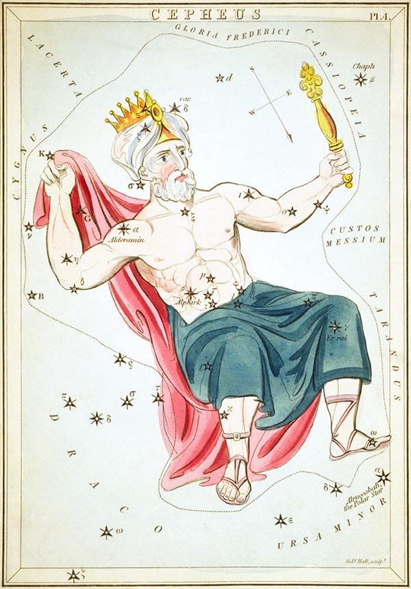 Cepheus constellation art