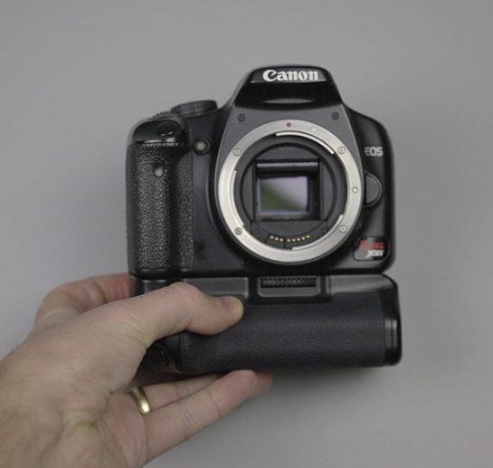 Modified DSLR camera