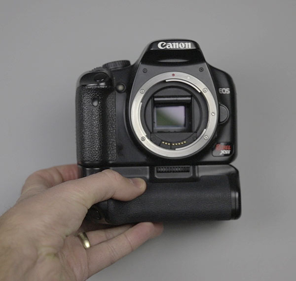 Modified DSLR camera