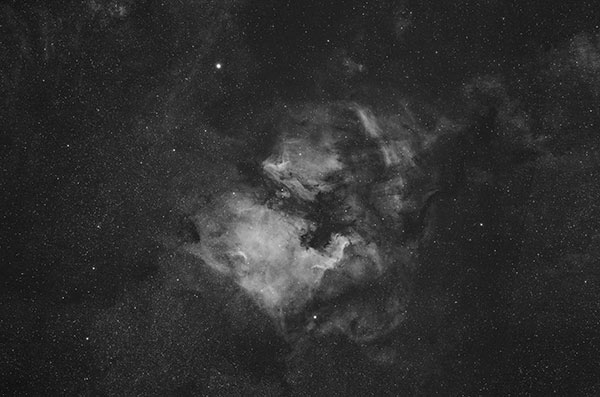 North America Nebula at 135mm