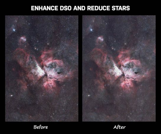 Enhance DSO and reduce stars