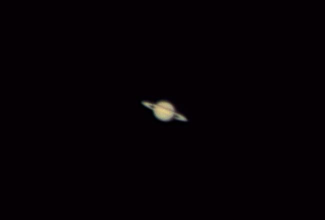 Saturn through telescope