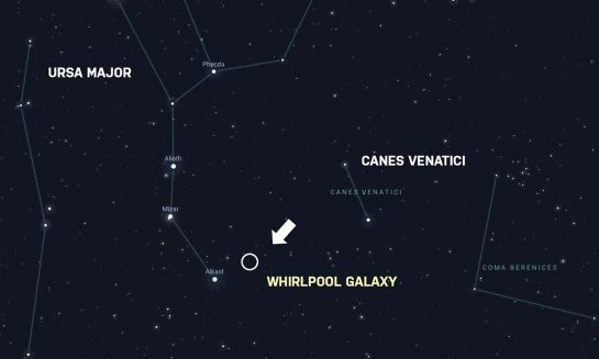 Whirlpool Galaxy location