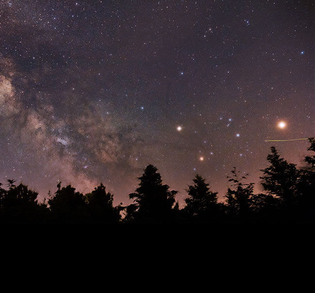Scorpius and Milky Way