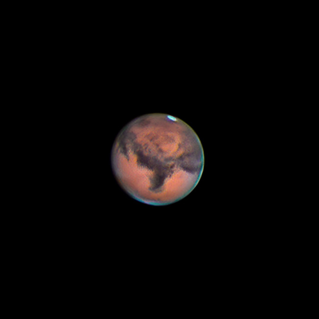 Mars through telescope