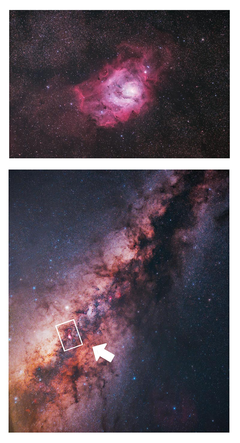 Lagoon Nebula Location