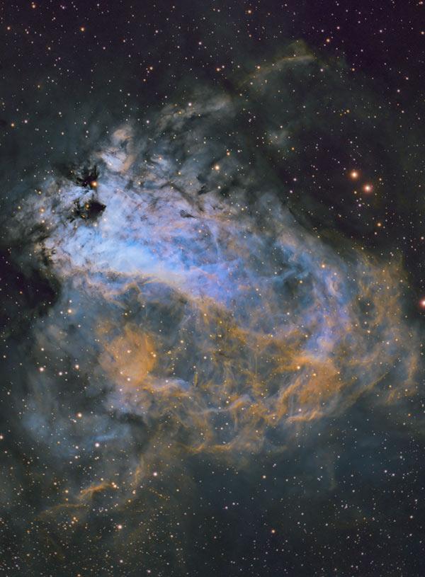Omega Nebula Hubble Palette