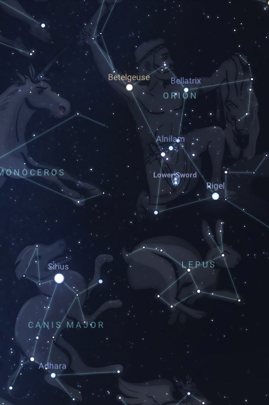 Sirius star in Orion