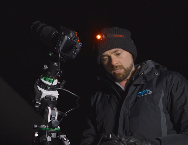 using a camera lens on a star tracker