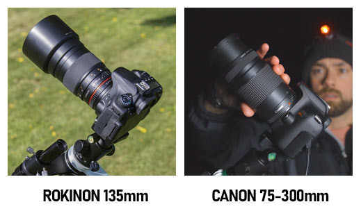 Canon EF 75-300 vs. Rokinon 135mm F/2
