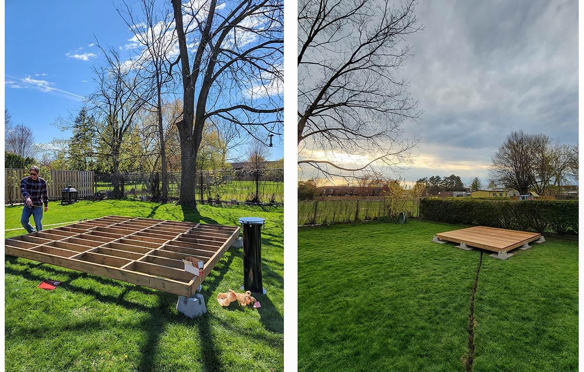wood deck for SkyShed POD