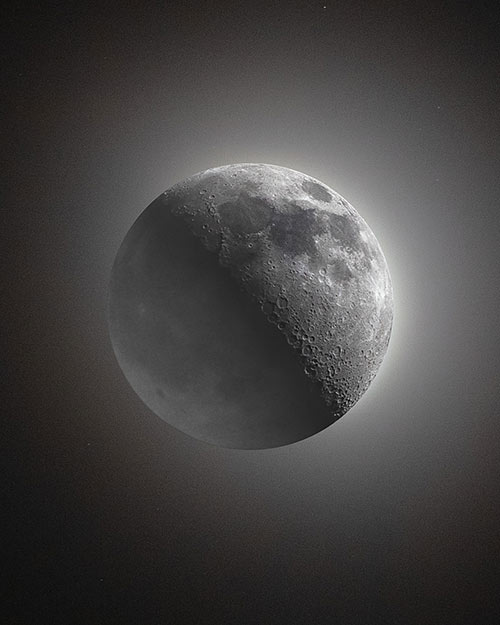 HDR moon photography