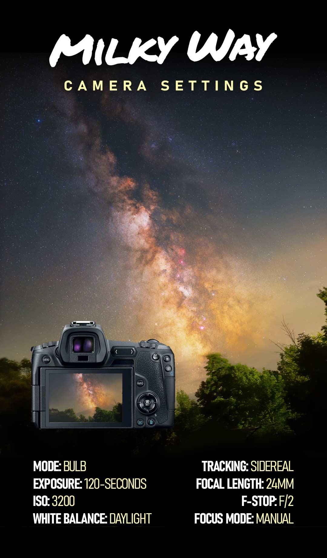 Milky Way Camera Settings