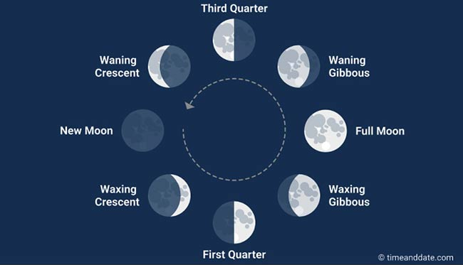 Eight Moon Phases