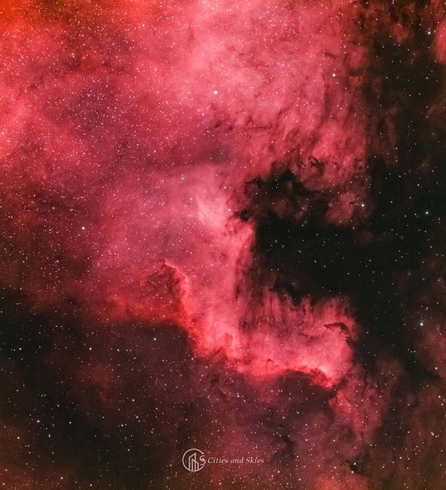 North America Nebula by Cities and Skies