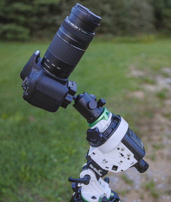 star tracker for camera lens