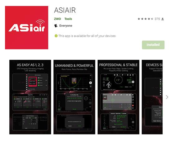 ASIAIR mobile app