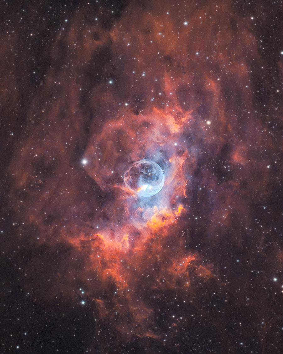 bubble nebula by AstroBackyard